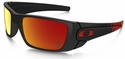Oakley Ferrari Fuel Cell Sunglasses with Matte Black Frame and Ruby Iridium Lenses