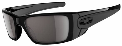 Oakley Fuel Cell Sunglasses with Polished Black Frame and Warm Grey Lens