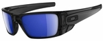 Oakley Fuel Cell Sunglasses with Polished Black Ink Frame and Polarized Ice Iridium Lens