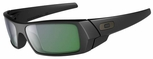 Oakley Gascan Sunglasses with Matte Black Frame and Emerald Iridium Lens