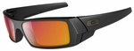Oakley Gascan Sunglasses with Matte Black Frame and Ruby Iridium Lens