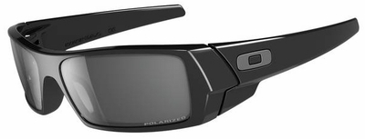 Oakley Gascan Sunglasses with Polished Black Frame and Gray Polarized Lens