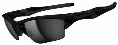 Oakley Half Jacket 2.0 XL Sunglasses with Matte Black Frame and Black Iridium Polarized Lenses