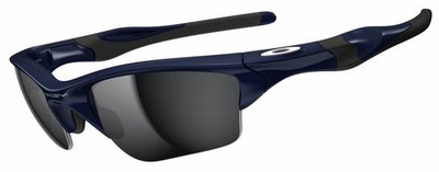Oakley Half Jacket 2.0 XL Sunglasses with Polished Navy Frame and Black Iridium Lenses