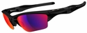 Oakley Half Jacket XL 2.0 Sunglasses with Polished Black Frame and Polarized OO-Red Iridium Lens