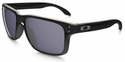 Oakley Holbrook Sunglasses with Black Frame and Grey Polarized Lenses
