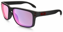 Oakley Holbrook Sunglasses with Matte Black Frame and +Red Iridium Lenses