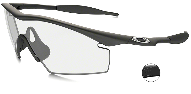 No Frame Safety Glasses : Oakley Industrial M Frame Safety Glasses with Clear Lens
