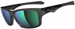 Oakley Jupiter Squared with Polished Black Frame and Jade Iridium Lens
