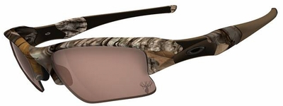 Oakley King's Camo Flak Jacket XLJ Sunglasses with Woodland Camo Frame and VR28 Black Iridium Lens