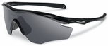 Oakley M2 Frame Sunglasses with Polished Black Frame and Black Iridium Lens