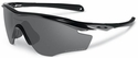 Oakley M2 Frame Sunglasses with Polished Black Frame and Black Iridium Polarized Lens