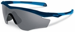 Oakley M2 Frame Sunglasses with Polished Navy Frame and Grey Polarized Lens