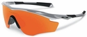 Oakley M2 Frame Sunglasses with Silver Frame and Fire Iridium Lens