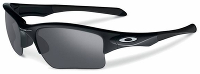 Oakley Quarter Jacket Sunglasses with Polished Black Frame and Black Iridium Lenses