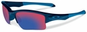 Oakley Quarter Jacket Sunglasses with Polished Navy Frame and +Red Iridium Lenses