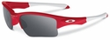 Oakley Quarter Jacket Sunglasses with Redline Frame and Black Iridium Lenses