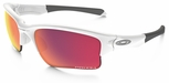 Oakley Quarter Jacket with Polished White Frame and Prizm Baseball Outfield Lens