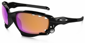 Oakley Racing Jacket with Polished Black Frame and Prizm Trail and Clear Vented Lens