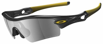Oakley Radar Path Livestrong Sunglasses with Jet Black/Yellow Frame and Black Iridium Lens