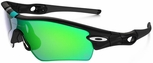 Oakley Radar Path Sunglasses with Polished Black Frame and Jade Iridium Lens
