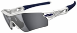Oakley Radar Path Sunglasses with Polished White Frame and Black Iridium Lenses