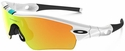 Oakley Radar Path Sunglasses with Polished White Frame and Fire Iridium Lens