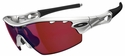 Oakley Radar Pitch Sunglasses with Silver Frame and G30 Iridium Vented Lenses
