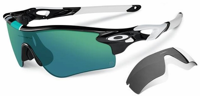 Oakley Radarlock Path Sunglasses 30Yr Edition with Polished Black Frame and Jade Iridium and Black Iridium Lenses