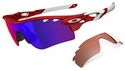 Oakley Radarlock Path Sunglasses with Infrared Frame and +Red Iridium and VR28 Lenses