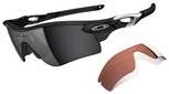 Oakley Radarlock Path Sunglasses with Polished Black Frame and Black Iridium and VR28 Lenses