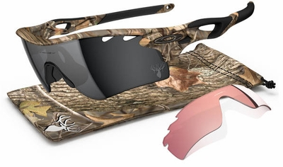 Oakley Radarlock Path Sunglasses with King's Woodland Camo Frame and Black Iridium and G30 Lenses