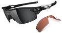 Oakley Radarlock Pitch Sunglasses with Polished Black Frame and Black Iridium and VR28 Lenses