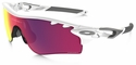 Oakley Radarlock Path with Polished White Frame and Prizm Road and Persimmon Vented Lens