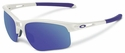 Oakley RPM Edge Sunglasses with Arctic Frame and Violet Iridium Lenses