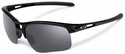 Oakley RPM Edge Sunglasses with Polished Black Frame and Black Iridium Lenses