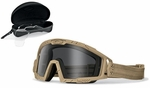 Oakley SI Ballistic Goggle 2.0 Array with Bone Frame and Clear and Gray Lenses