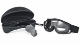 Oakley SI Ballistic Goggle Array with Black Frame and Clear and Gray Lenses