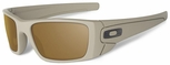 Oakley SI Cerakote Fuel Cell with Desert Sage Frame and Tungsten Iridium Lens