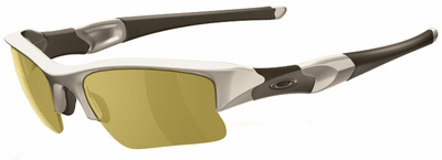Oakley SI Flak Jacket XLJ with Desert Frame and Amber Polarized Lenses