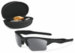 Oakley SI Half Jacket 2.0 XL Sunglasses Array with Matte Black Frame and Gray, Clear, and Persimmon Lenses