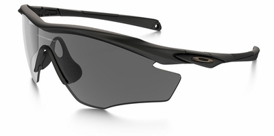 Oakley SI M2 Frame Sunglasses with Matte Black Frame and Grey Lens