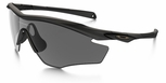 Oakley SI M2 Frame Sunglasses with Matte Black Frame and Grey Polarized Lens