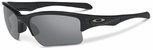 Oakley SI Quarter Jacket Sunglasses with Matte Black Frame and Grey Lens