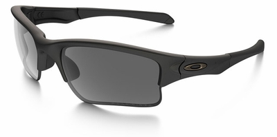 Oakley SI Quarter Jacket Sunglasses with Matte Black Frame and Grey Polarized Lens