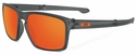 Oakley Sliver Sunglasses with Matte Olive Ink Frame and Fire Iridium Polarized Lenses