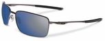 Oakley Square Wire Sunglasses with Cement Frame and Ice Iridium Lenses