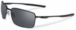 Oakley Square Wire Sunglasses with Matte Black Frame and Black Iridium Polarized Lenses