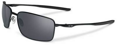 Oakley Square Wire Sunglasses with Polished Black Frame and Black Iridium Lenses