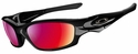 Oakley Straight Jacket Sunglasses with Polished Black Frame and Polarized OO-Red Iridium Lens